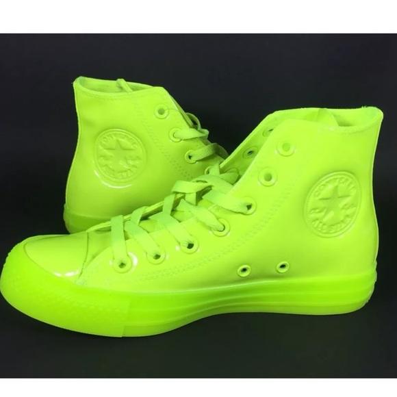 488e26db2ba9 NEW Converse CTAS Hi Shoes Sneakers Volt Yellow